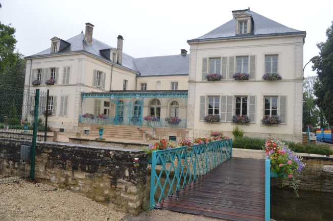 The attractive Mairie and bridge at Les Riceys