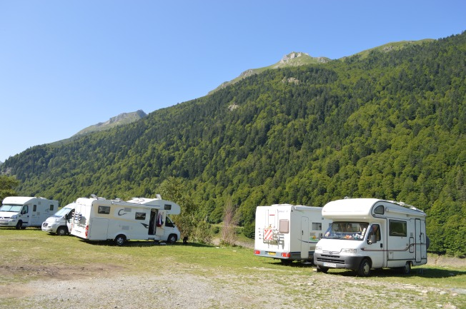 Our stopping place at Fabreges, Pyrenees National Park