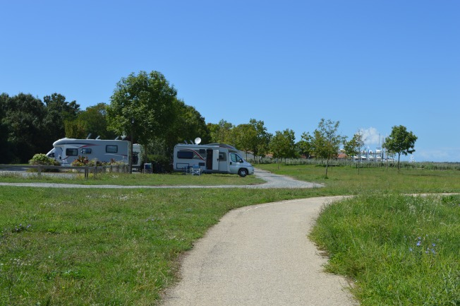 Motorhome aire at Soubise, with lovely walks around