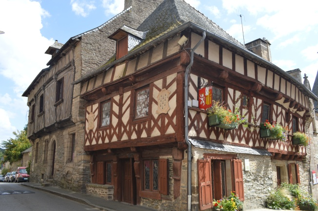 Half-timbered house in Josselin