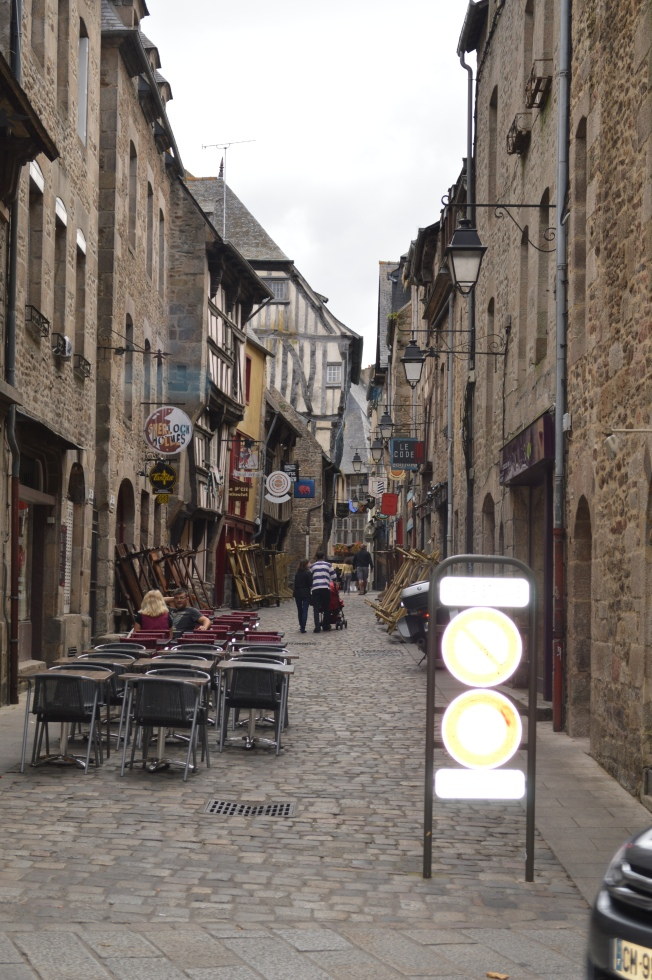 Soaking up the atmosphere in Dinan