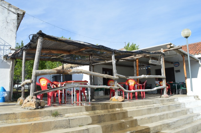 The Reception area and Bar at camping of Embalse de Yesa