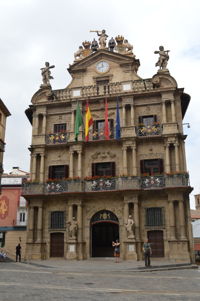 The superb Town Hall in Pamplona