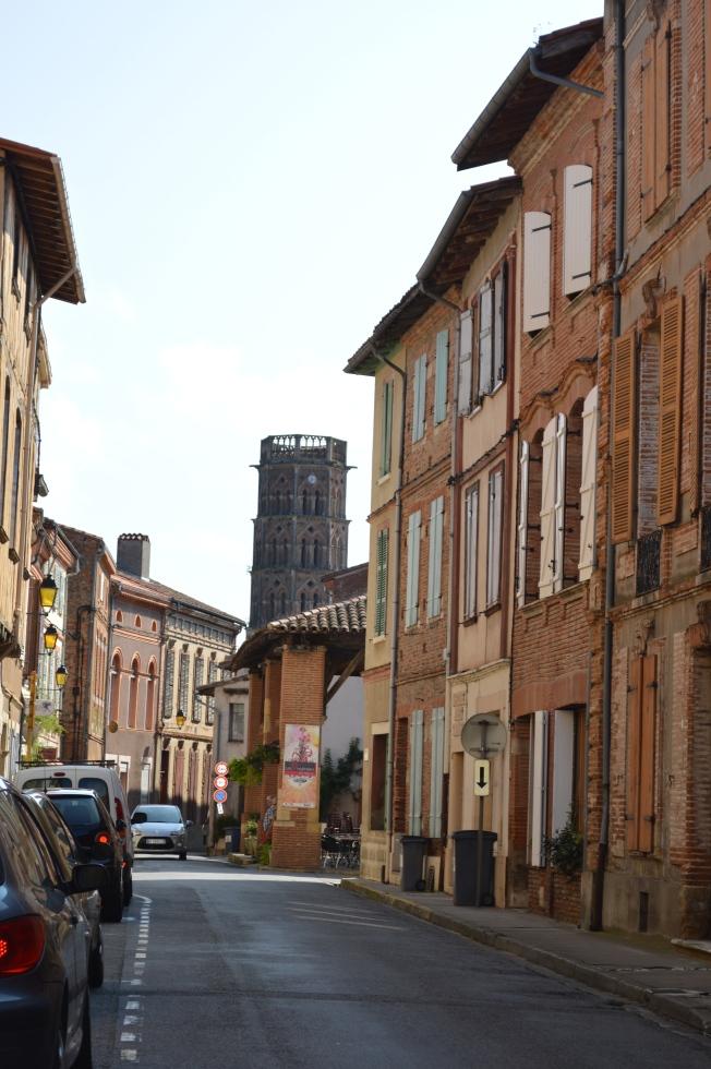 Cycling through Vieux-Volvestre