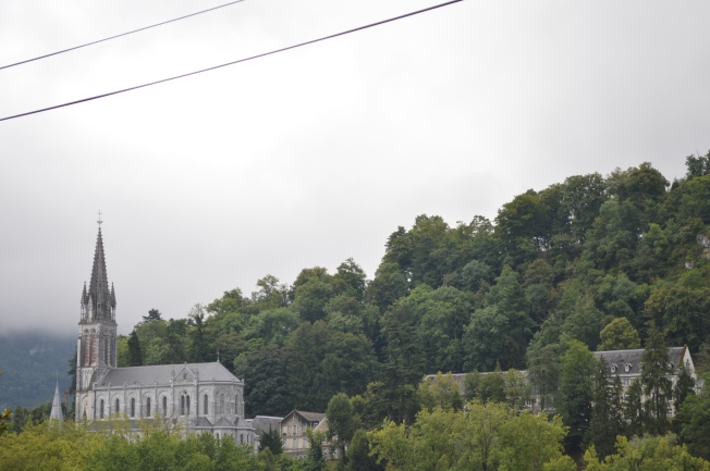 The lovely setting of Lourdes Shrine