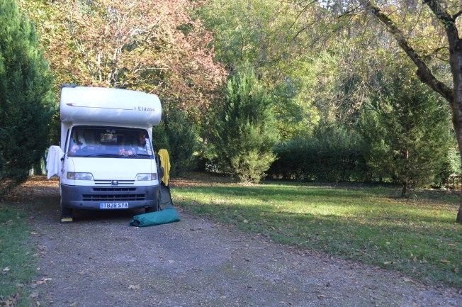 Our generous pitch at Camping Des Bords de l'Eure