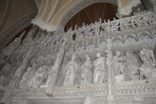 Exquisite choir stone carvings