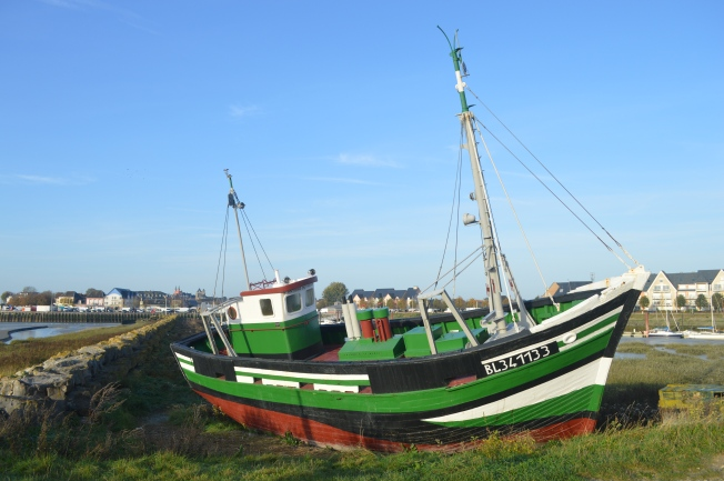 The replica of the old fishing boat