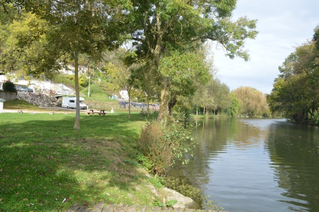 A very pretty location for motorhome aire at Les Roches l'Eveque