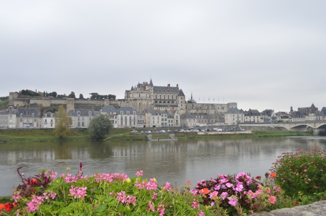 Gorgeous Amboise seen from Ile d'Or on the River Loire