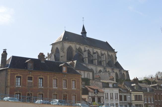 Notre-Dame-des-Arts Chuch at medieval Pont-de-l'Arche
