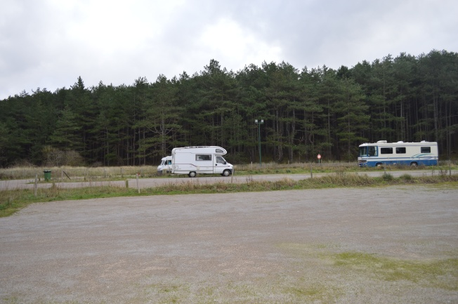 Lovely setting for motorhome aire at Quend-Plage-les-Pins