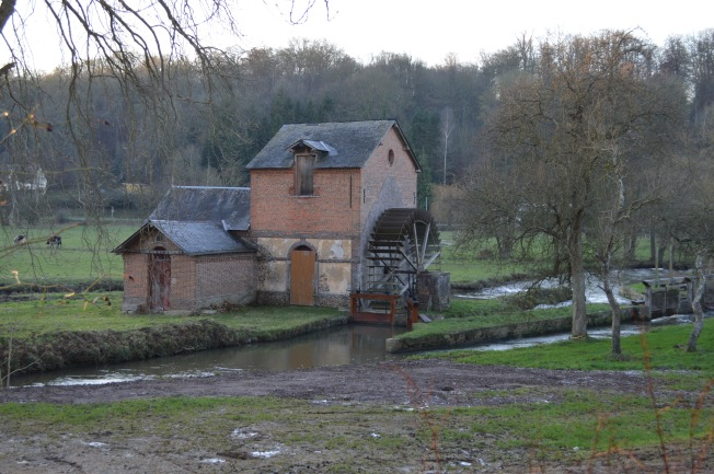The water mill at Broglie, where time seems to have stopped