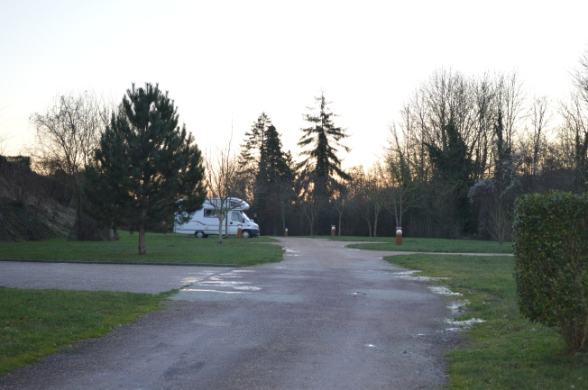 A very cold morning at Broglie's motorhome aire