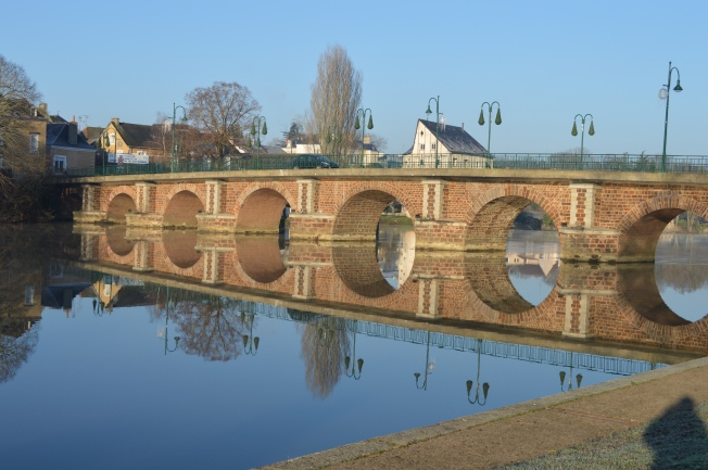 The quaint bridge at La Suze-sur-Sarthe
