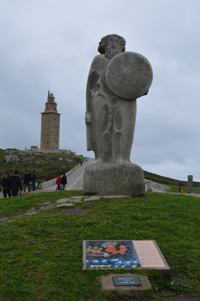 La Torre de Hércules and Statue of Breogán, a Celtic King