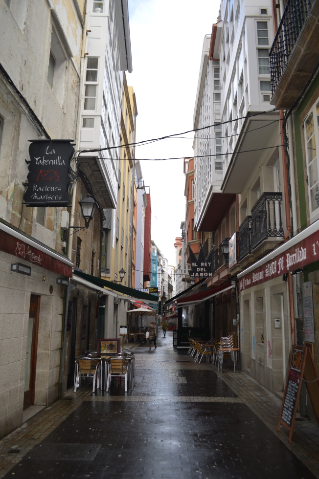 La Calle de los Vinos (Wine Street) where everything happens.  Excellent seafood too!