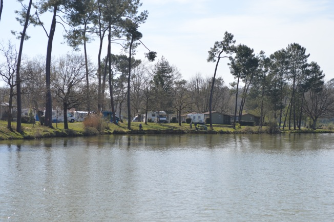 Our pitch at Camping Lac d'Uby