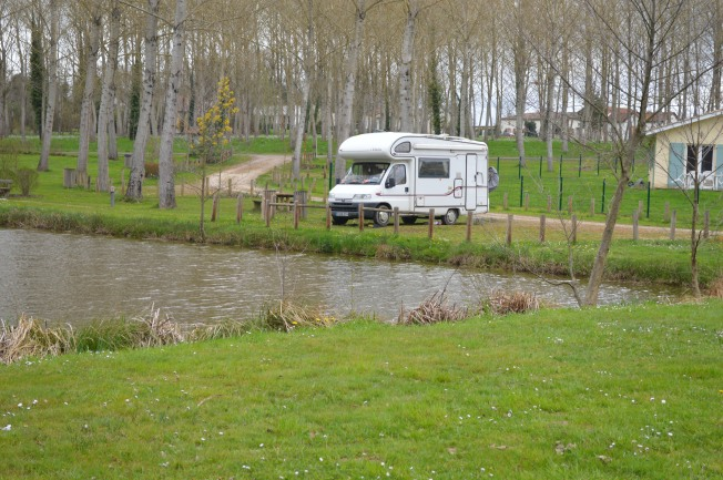 Our quiet spot at Clerac motorhome aire
