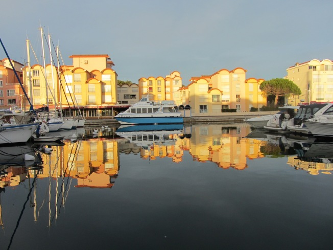 Gruissan Marina in the afternoon sun