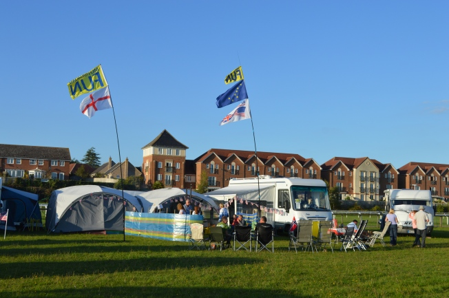 Our MotorhomeFun basecamp at the show
