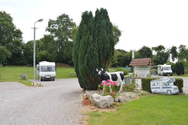 The lovely motorhome aire at Nuncq Hautecote