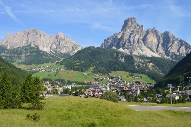 Dolomites from just outside Cortina D'Ampezzo