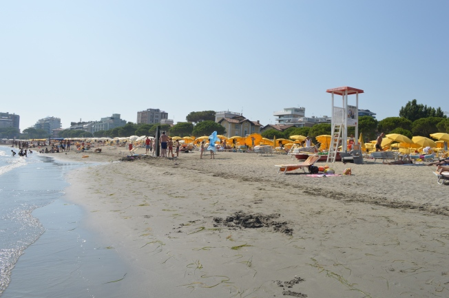 The beach at Grado