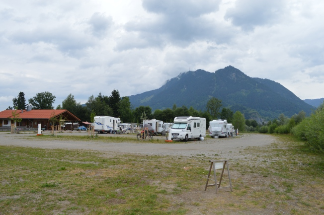Stunning setting at Blaichach Stellplatz and camping