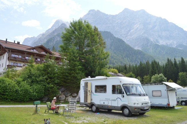 Our generous pitch at Tiroler Zugspitze Family Resort