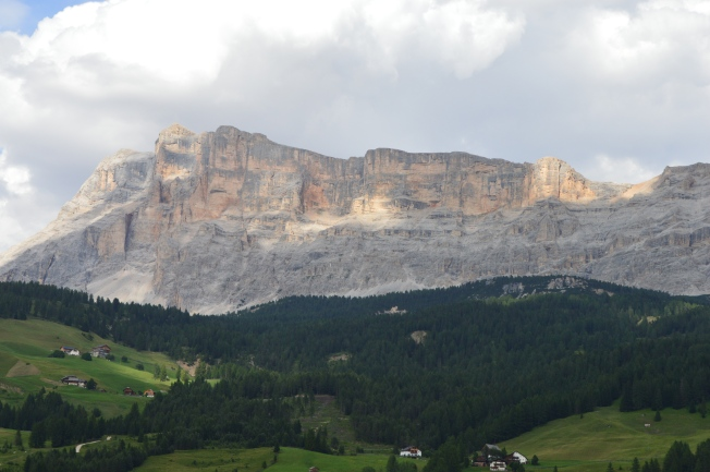 View of the Dolomites from La Villa/Stern