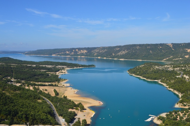 The amazingly beautiful Lac de Ste Croix on the way to Moustiers-Ste-Marie