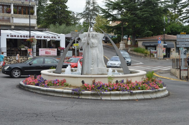 Attractive fountain at Greoux-les-Bains