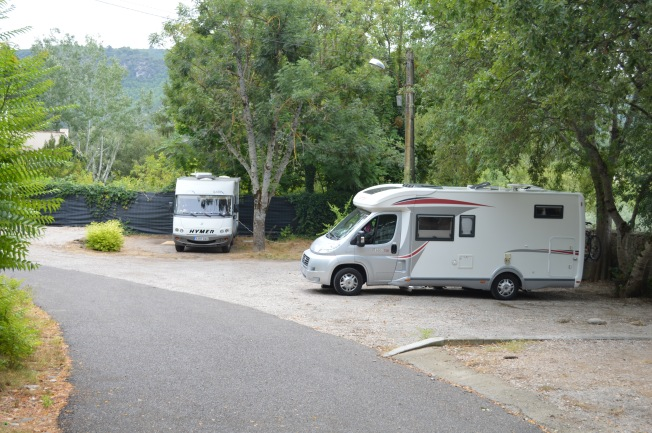 the motorhome aire at Greoux-les-Bains