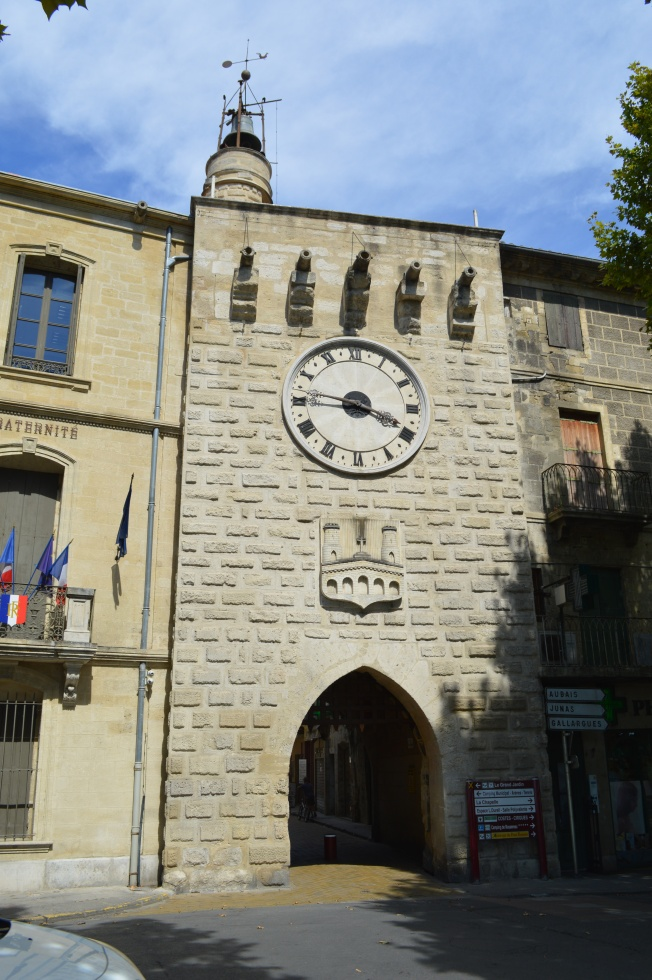 The Tour de l'Horloge at end of bridge