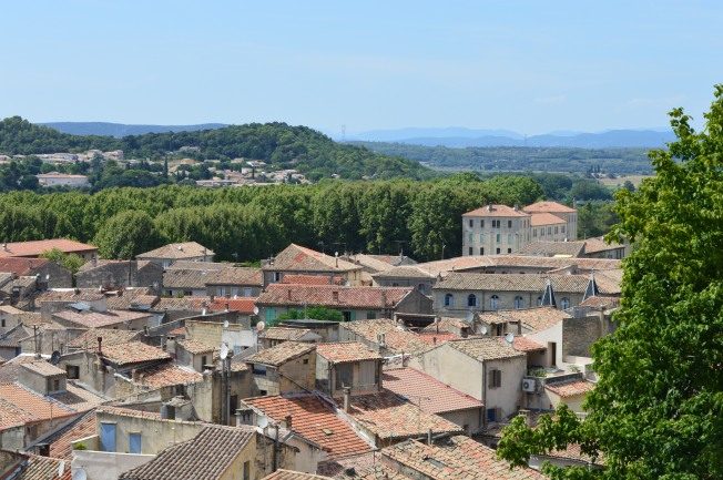 View of Sommières from castle