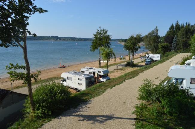 The motorhome aire at Paraloup