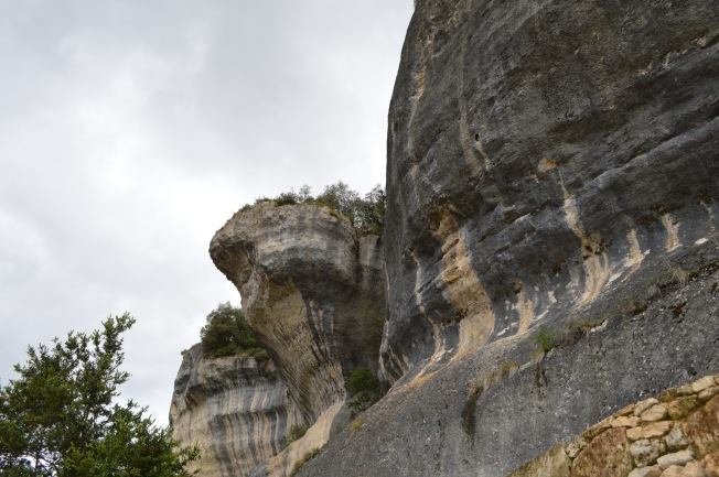 Intriguing rock formations above town