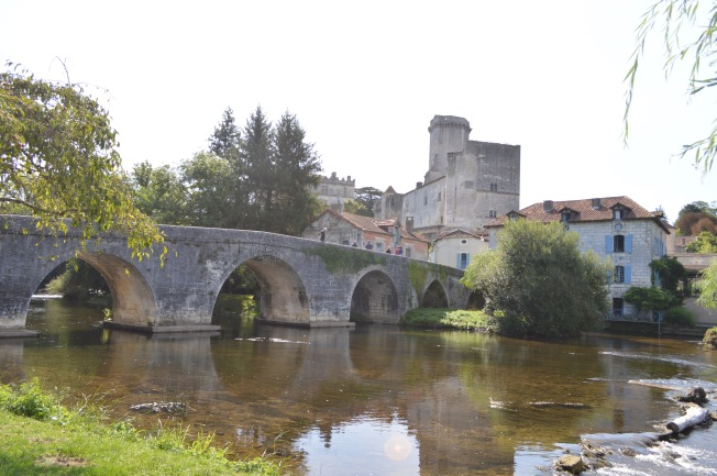 Medieval Bourdeilles on the river Dronne