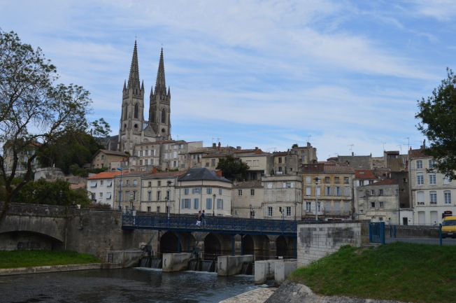 Niort seen from park