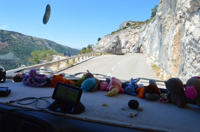 On the windy and narrow road though the Gorges du Verdon