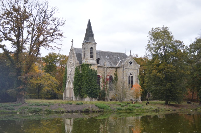 Chapel Island in the Château park
