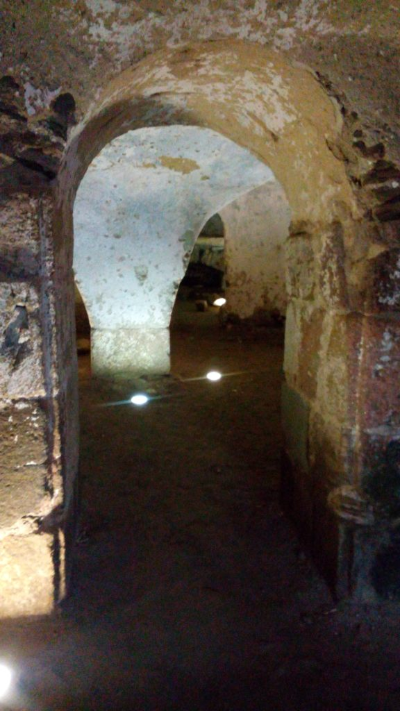 11th century crypt below Eglise St Pierre
