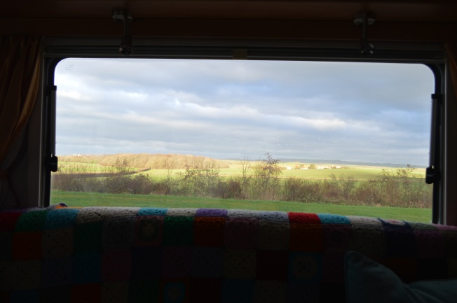 View framed by our motorhome window