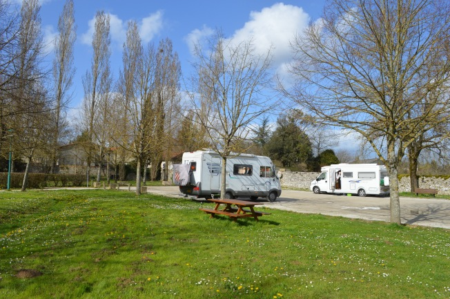 Villdômer motorhome aire, one of our favourite stops
